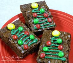 Aunt Nubby's Kitchen: Christmas Brownies - just a cute idea I want to remember for next year