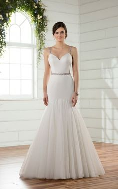 D2372 Butterfly Back Mermaid Wedding Dress by Essense of Australia