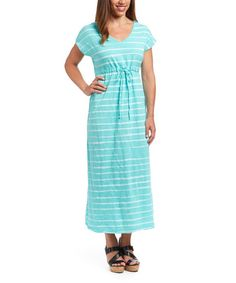 Love this Palm Brushed Stripe Moonshade Maxi Dress on #zulily! #zulilyfinds