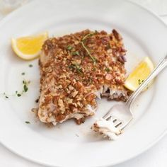 Pecan Crusted Grouper~ pecans add a toasty edge to fresh, crisp grouper fillets.