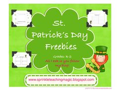 St. Patrick's Day FREEBIE! Students make a leprechaun viewfinder and hunt around the room for leprechaun clues.  Two recording sheets are provided.  Grades K-2.  Turns out super cute.