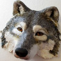 Thumbnail image for The Wolf Mask made from paper mache