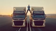 Jean Claude Van Damme Shoes in Epic Split for Volvo |  $540 BUY ➜ http://shoespost.com/jean-claude-van-damme-shoes-in-epic-split-for-volvo/ Have you seen Jean Claude Van Damme's Volvo ad? The former action star sure still has got some serious skills. Or maybe it's just the precision of those two Volvo trucks and their very skilled drivers. What do you think? Check out the video below and give me your answer.  I'm sure it's the former...