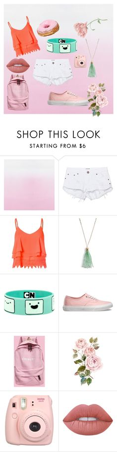 """happy colour"" by qannandya on Polyvore featuring One Teaspoon, Glamorous, Vera Bradley, Vans and Lime Crime"