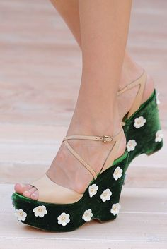 Floral Heels - Moschino Cheap and Chic s/s 2012