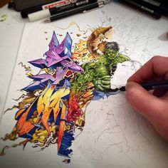"""Being able to have Skore79 on board for the """"Ritual of Sketch"""" section is a real luxury. Take a look at his creations on paper and you'll understand why. The word """"incredible"""" is often over used but on this occasion there's nothing else that better... #graffiti #ritualofsketching #sketching"""