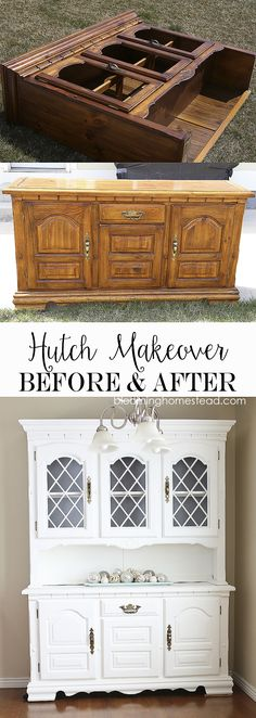 China hutch makeover from start to finish using Americana Decor Chalky Finish. #decoartprojects
