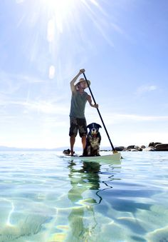 Just kicking it! Odyssey Standup Paddle Boards Lake Tahoe.... It would be fantastic to be able to take Isaak and do this, but he hates deep water and I'm so out of shape... maybe next summer.