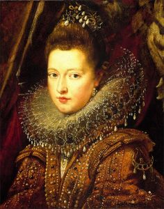 Margarita Gonzaga, Duchess of Lorraine, regent of Portugal, 1610 -- painted by Frans Pourbus the Younger,