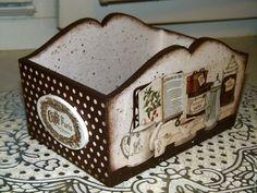 Купить Корзинка для мелочей - коричневый, корзина, короб для хранения, короб, короб для кухни, короб для специй
