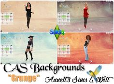 "Annett`s Sims 4 Welt: CAS Backgrounds ""Grunge"" • Sims 4 Downloads"