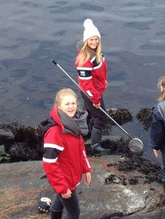 Planktontrekk og fjærestudier  I begynnelsen av april var Bio1-elevene på ekskursjon til Drøbak der de studerte det marine økosystemet. Elevene har vært gjennom bunnskrap og planktontrekk fra båt og studier av innsamlete dyr i lab, i fjæra og i akvarium.