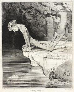 Le beau Narcisse  Honoré Daumier (France, Marseilles, 1808-1879) France, 1842
