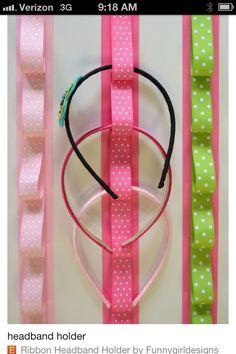 Cute way to hang headbands