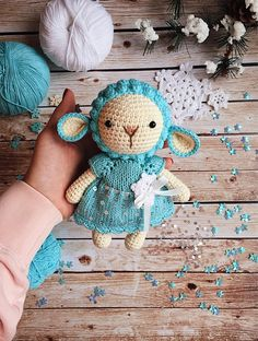 Crochet sheep/Nursery decor/Baby shower gift/Gift for girl/Birthday gift/Stuffed animals/Knitted soft toy/Sheep toy/Plushie/Amigurumi animal Crochet Sheep, Cute Crochet, Crochet Animals, Crochet Motif, Crochet Dolls, Crochet Baby, Crochet Patterns, Easy Crochet, Diy Crochet Accessories