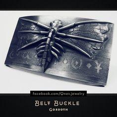 "Sterling Silver Belt Buckle ""Gorroth"" . . #beltbuckle #buckle #sterlingsilver #jewelrydesign #jewelrydesigner #metalwork #artwork #artofinstagram #tattoolife #silverart #creativeart #mensstyle #homemade #artistic #artstagram #fantasyart #mensgifts #dark #cyber #cyberpunk"