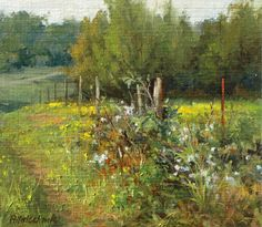 John Pototschnik painted this near my house while here with us in Mississippi.  PleinAir Magazine interview - John Pototschnik Fine Art blog.