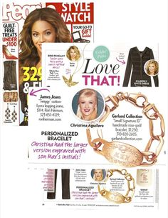 Garland Collection rose gold Signature ID bracelet featured in People Stylewatch.