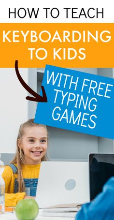 Teaching keyboarding for kids with free typing game for kids. Keyboarding lessons. Free keyboarding for kids. Keyboarding practice for kids. Keyboarding activities for kids. Keyboarding practice for kids. Keyboarding lessons computer. Keyboarding classroom ideas. #keyboarding #typingforkids #typing #lessons #homeschool #school