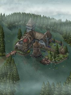 Fantasy World Map, Fantasy Places, Building Map, Medieval, Map Pictures, Dungeon Maps, City Maps, Fantasy Inspiration, Fantasy Landscape
