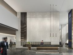 Reception Desk Design, Lobby Reception, Office Lobby, Sales Office, Modern Hotel Lobby, Sales Center, Interior Architecture, Interior Design, Lobby Lounge
