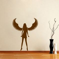 Housewares Vinyl Decal Slim Girl With Wings Angel Love Home Wall Art Decor Removable Stylish Sticker Mural Unique Design for Any Room Decal House http://www.amazon.com/dp/B00G24X6QI/ref=cm_sw_r_pi_dp_18XUtb09GWD57CCD