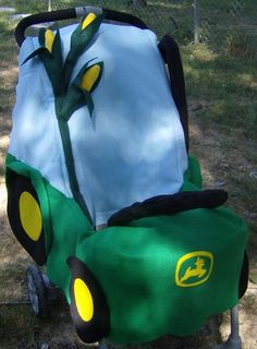 Tractor Stroller Costume for Halloween by mapletree2000 on Etsy