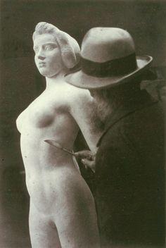 Maillol at work, Ile de France, 1932 by Brassaï
