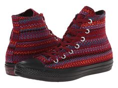 Converse Chuck Taylor® All Star® Winter Material Hi Oxheart/Larkspur/Black - Zappos.com Free Shipping BOTH Ways