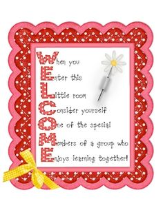 Welcome your students to school with this polka-dot poster!Also serves as a great example of an acrostic poem :)...