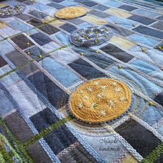 woolen quilt art by MAGDAMHANDMADE on Etsy
