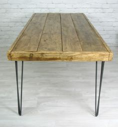 Hairpin legs vintage dining table.  Great DIY project