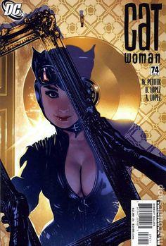 Catwoman (2002 3rd Series) 74 DC Comics Book cover art super heroes villians