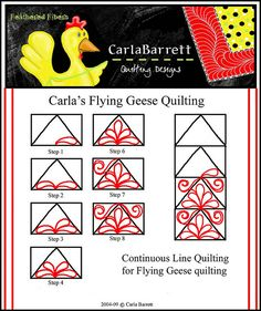Quilting pattern for flying geese.