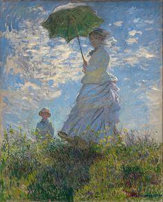 La Promenade, huile sur toile de Claude Monet (1875, National Gallery of Art). (définition réelle 6 001 × 7 455)