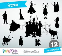 Frozen Silhouettes, SVG Frozen, Instant Download, svg, png, jpg and eps file types included, PS-307.