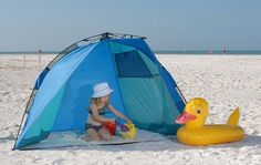 Includes sturdy yet lightweight pole system, sand pockets and pegs for extra stability, air vents and shutters s to keep cool and floorless, so kids can play in Tent Camping, Camping Gear, Outdoor Camping, Outdoor Gear, Childrens Play Tents, Beach Cabana, Baseball Gear, Star Wars, Beach Gear