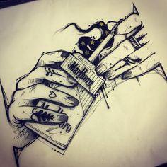 #ink #inked #tattoo #tattoos #tattooed #tattrx #btattooing #blackwork #dot #draw #drawing #blackandwhite #blackworkers #iblackwork #dotwork #blxckink #sketch  #vsco #darkartists #black #illustration #art #graphic #cigarette #marlboro #onlythedarkest