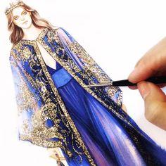 Watercolor Fashion, Fashion Painting, Fashion Art, Fashion Models, Fashion Beauty, Girl Fashion, Dress Design Sketches, Fashion Design Drawings, Fashion Sketches
