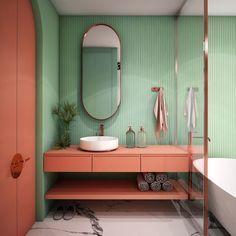 94 Amazing Small Bathroom Design Ideas In Small Bathroom Ideas, Small Bathroom Remodel Ideas – Savillefurniture, 40 the Best Modern Small Bathroom Design Ideas Our Home, E Kindesign. Bathroom Design Small, Bathroom Colors, Bathroom Interior Design, Modern Bathroom, Modern Interior, Bathroom Ideas, Pastel Bathroom, Mint Bathroom, Colorful Bathroom