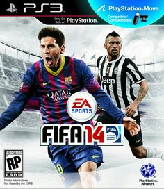 FIFA 14 cover for Italy (Italian version) featuring El Shaarawy and Lionel Messi Ea Sports, Sports Games, Fifa 14 Ps3, Ufc Sport, Nba Live, Madden Nfl, Phone Games, Playstation Games, Lionel Messi