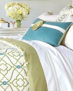 Refresh your master suite with the Bradshaw Bedding Collection that boasts vibrant colors and a reversible duvet cover.