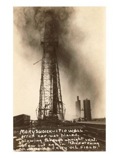 Spurting Oil Well, Oklahoma Giclee Print at Art.com