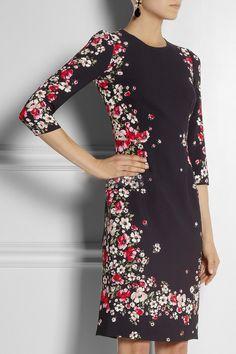 Morpheus Boutique  - Black Floral Pattern 3/4 Sleeve Pencil Dress, CA$112.81 (http://www.morpheusboutique.com/black-floral-pattern-3-4-sleeve-pencil-dress/)