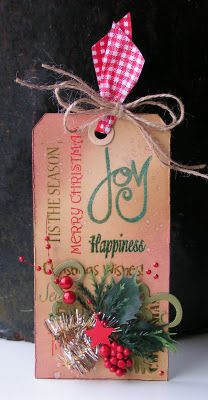 Geinspireerd door Tim Holtz 12 tags of Christmas 2011 - tag 3