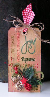 Geinspireerd door Tim Holtz 12 tags of Christmas 2011 - tag 3
