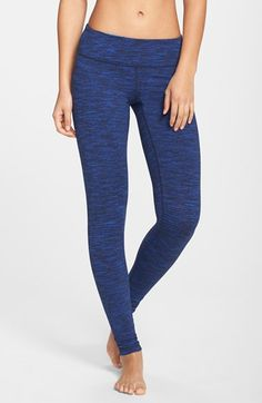 Zella 'Live In - Space Dye Pop' Leggings available at #Nordstrom size M, blue ultra