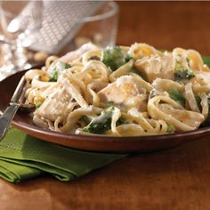 Chicken & Broccoli Alfredo...one of my favorites (love it from Olive Garden...don't tell anybody)