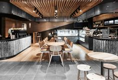 This is a fun and light hearted design that will both surprise and delight. Coffee Shop Interior Design, Pub Design, Coffee Shop Design, Brick Interior, Cafe Interior, Luxury Interior, Design Bar Restaurant, Restaurant Booth, Commercial Interior Design