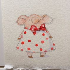 Party Dress / ©Elizabeth Rose Stanton / watercolor on paper